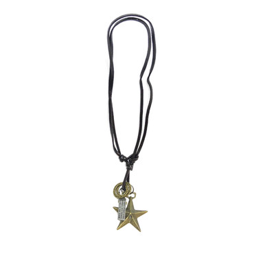 Leather Star Necklace
