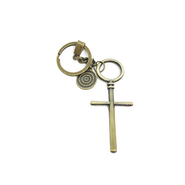Rugged Cross Keychain