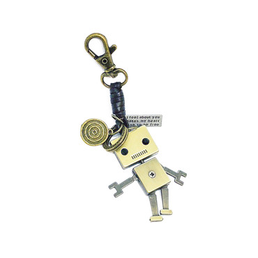Rugged Robot Keychain