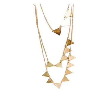Golden Tri-Layered Necklace