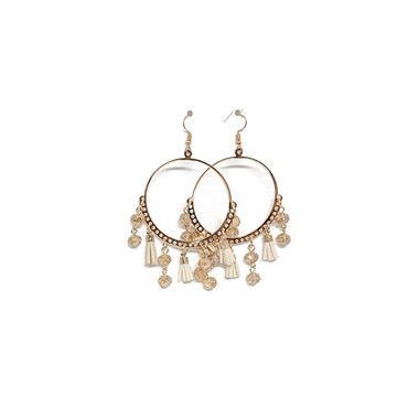 Halo Rose Jeweled Earrings