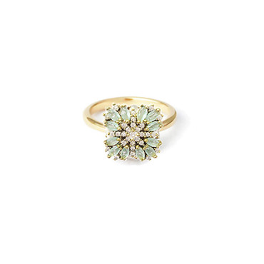 Mint Jewel Burst Ring