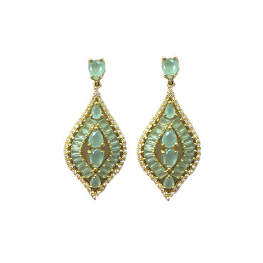 Mint Jewel Drop Earrings