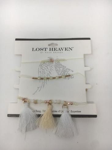 Cream Tassel Bracelet Set