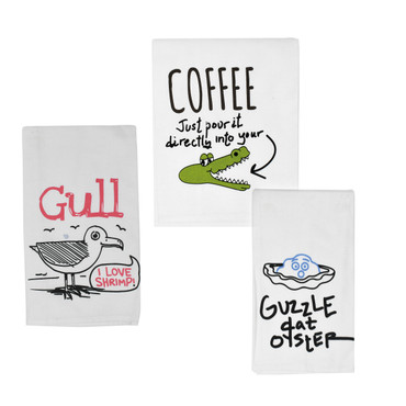 Humor Towels (Coffee, Shrimp & Oysters to Choose From)