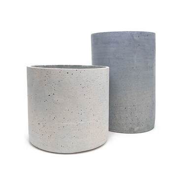 "Lightweight Cement Containers (Md: 6x6"", Lg: 6x8"")"