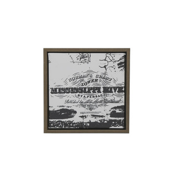Normans Chart of the Lower Miss. 8in. Wall Decor
