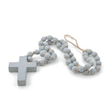 "Lg. Grey Blessing Bead (24"")"