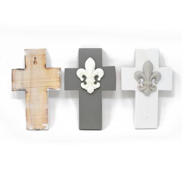 Fleur-de-lis Wall Cross