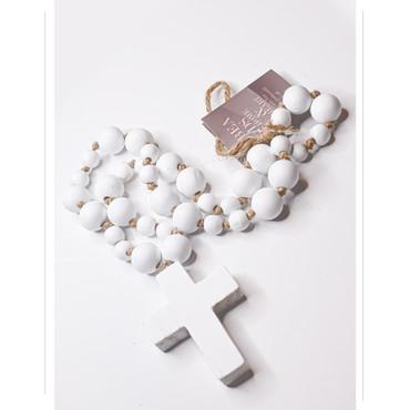 """Lg. White Blessing Bead (27"""")"""