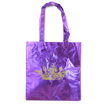 Metallic Crown Tote