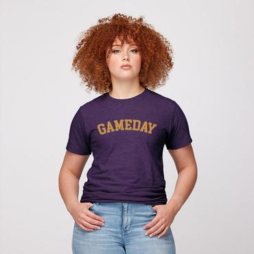 Gameday Tee  in Gold/Purple