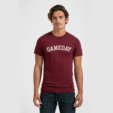 Gameday Tee in Deep Red