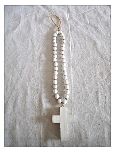 """Medium White Blessing Bead (20"""")"""