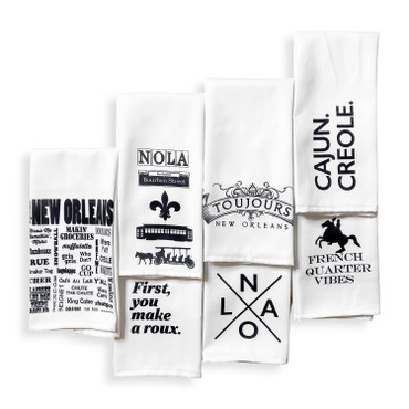 New Orleans Themed Towel (Set of 6)