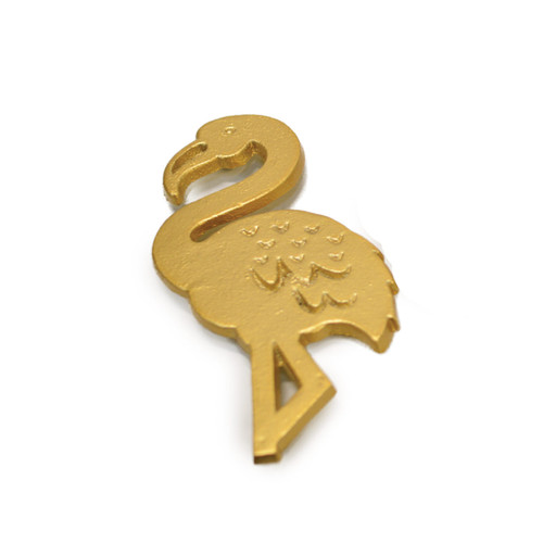 Gold Flamingo Trivet