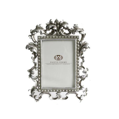 Antique Silver Fleur-De-Lis Frame 5x7