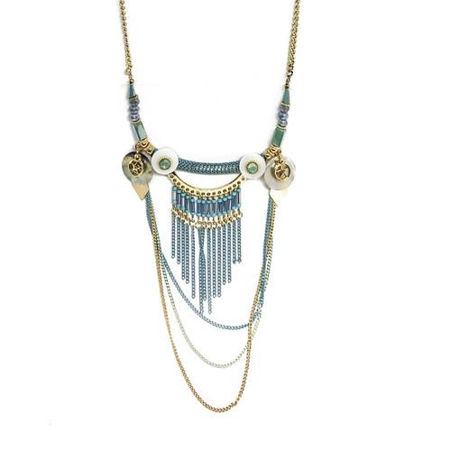 Aqua Layered Necklace