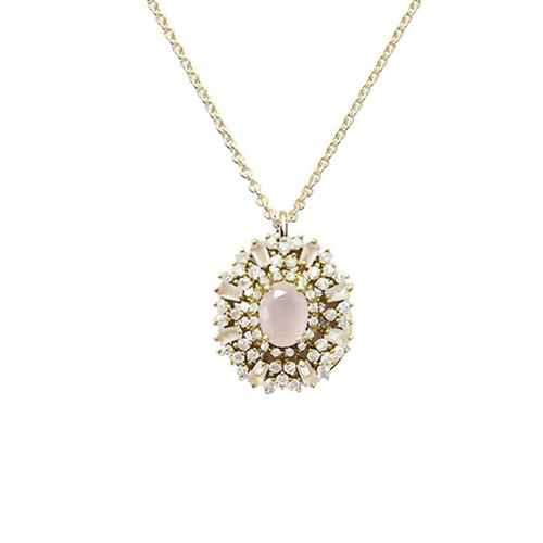 Blush Centered Jewel Necklace