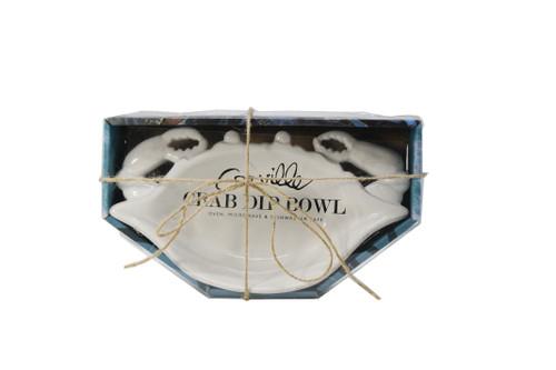 White Blue Crab Dip Bowl