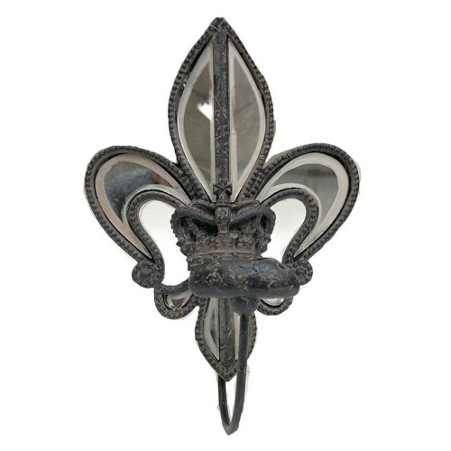 Fleur-de-lis Mirror Hook - Crown