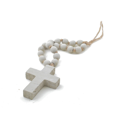 """Sm. Taupe Blessing Bead (11"""")"""