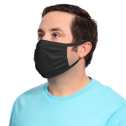 Black Value Cotton Knit Face Mask GOimprints PPE - Tilt