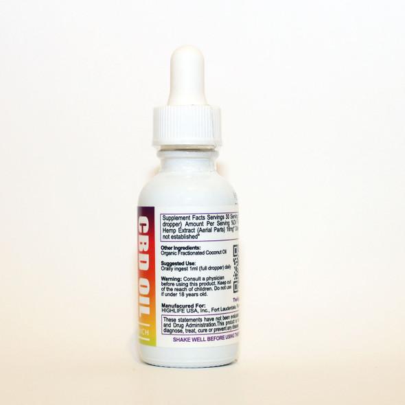 HIGHLIFE Full Spectrum CBD Oil 500mg Unflavored