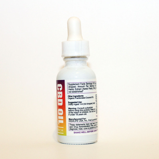 HIGHLIFE Full Spectrum CBD Oil 1000mg Unflavored
