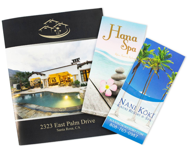 Bi-fold, tri-fold and z-fold brochures