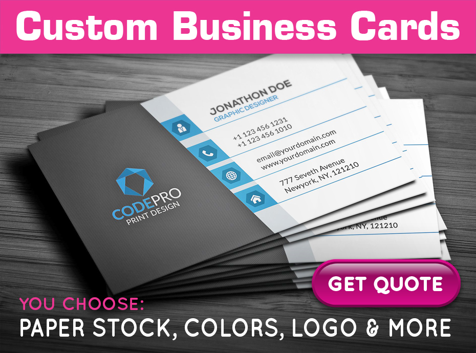 Get a quote on custom business cards