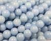 8mm Angelite Smooth Round Beads