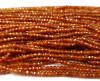 2x3mm Finely cut dark orange garnet rondelles