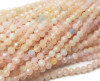 3mm Finely cut Morgnaite (more pink) beads
