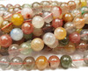 6mm Multi/Rainbow Rutilated Quartz Smooth Round Beads