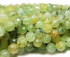 8mm Finely Cut Prehnite Faceted Round Beads