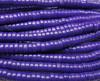 2x4mm Blue Purple Howlite Heishi Beads