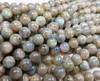 8mm Labradorite Light Round Beads With Blue Iridescence