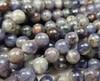 8mm Iolite Round Beads 15.5 Inches