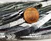 6x1mm Silver Hematite Shiny V-Shaped Arrow Beads
