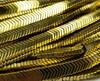 6x1mm Light Gold Hematite Matte V-Shaped Arrow Beads