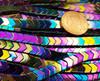 6x3mm Rainbow Multi Color Hematite Shiny V-Shaped Arrow Beads