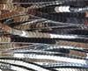 6x3mm Silver Hematite Shiny V-Shaped Arrow Beads