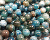 4mm Natural Blue Apatite Smooth Round Beads AB Quality