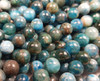 10mm Natural Blue Apatite Smooth Round Beads AB Quality