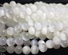 8mm Selenite Crystal Smooth Round Beads 15 Inch Strand