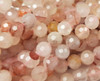 6mm Finely Cut Shiny Pink Faceted Crystal Beads