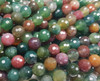 10mm Finely Cut Shiny Indian Agate Faceted Beads