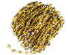 5x6mm Smoky Glass Beaded Gold-Plated Chain