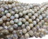 6mm Labradorite Light Round Beads With Blue Iridescence